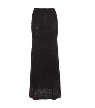 skirt knit crochet black
