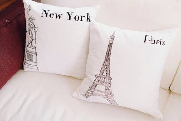 new york white hat cushion pillow paris