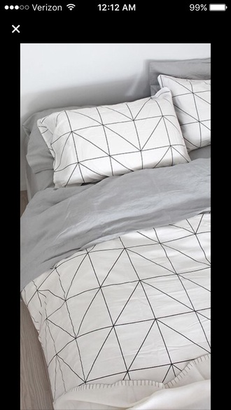 home accessory bedding geometric tumblr bedroom room bed