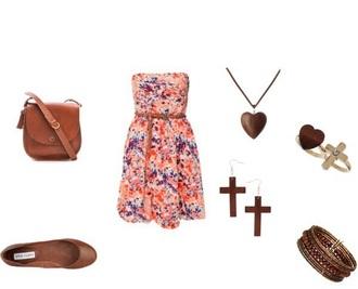 dress floral dress strapless dresses pretty jewels