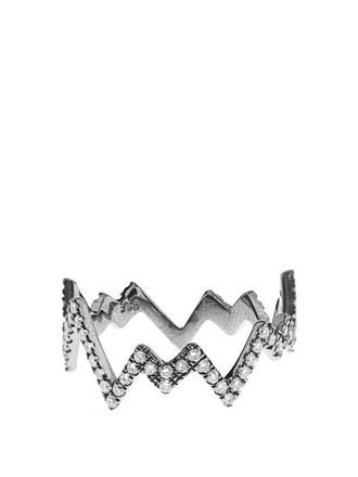 pop art ring gold white black jewels