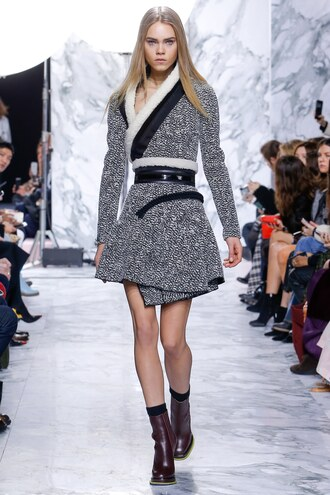 dress wrap dress coat fall outfits fashion week 2016 paris fashion week 2016 carven