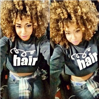 shirt t-shirt new trend trendy cymonnes curly hair curly hairstyle crop tops cropped instagram