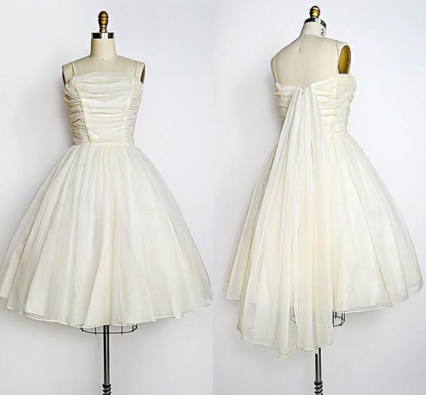 dress, 1950s wedding dress, 1950s prom dress, retro wedding dress ...