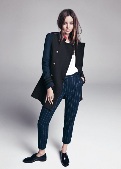 MANGO - NEW - Pinstripe wool-blend suit trousers