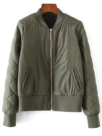 jacket green fashion style trendy fall outfits cool zaful
