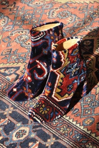 shoes ankle boots aztec designer