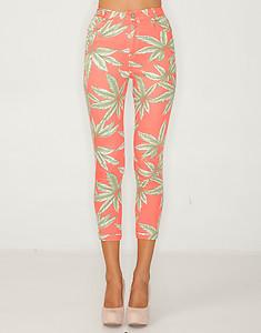 Motel Jodie Skinny Crop Jeans in Palm Leaf Print, XS/8. NEW WITH TAGS. Nastygal | eBay