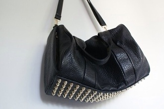 bag alexander wang alexander studs wang black fashion