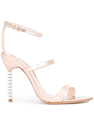 heel strappy embellished sandals strappy sandals metallic shoes