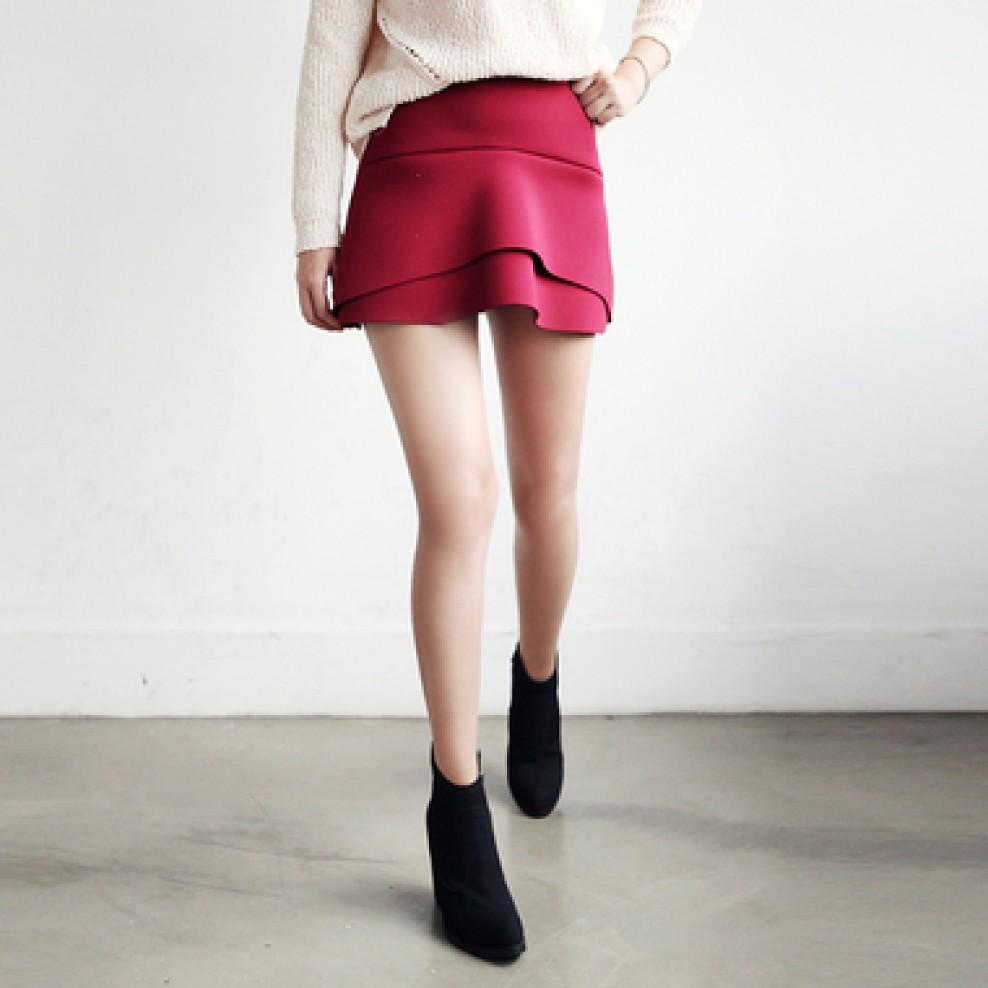 Band flare skirt