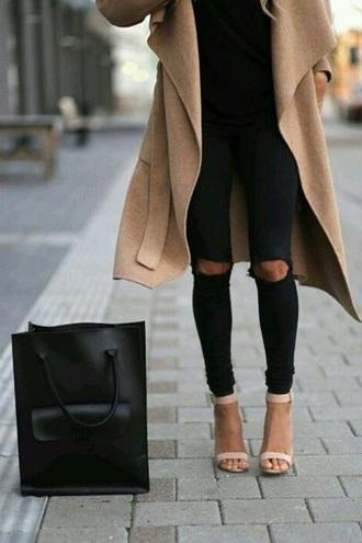 bag minimalist minimalism style lines tote bag belt