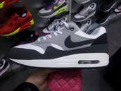 shoes,nike air,nike,grey,90s style,black,white sneakers,fluffy,cool,goth,pastel goth