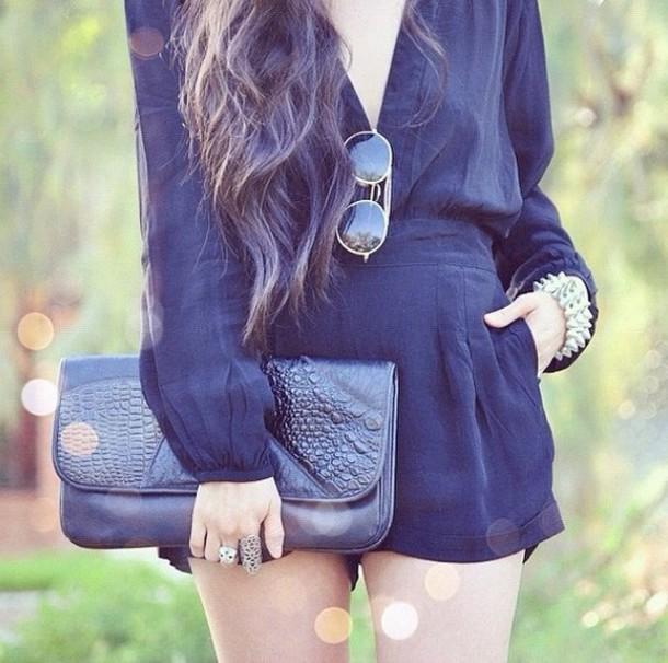 dress bodysuit sunglasses bag