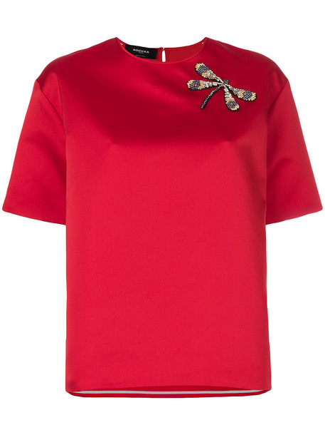 Rochas blouse short women red top