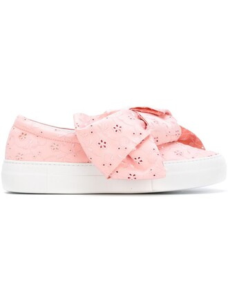 bow sneakers purple pink shoes
