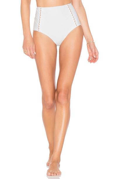 Jonathan Simkhai bikini high waisted bikini high waisted studded high pearl white swimwear