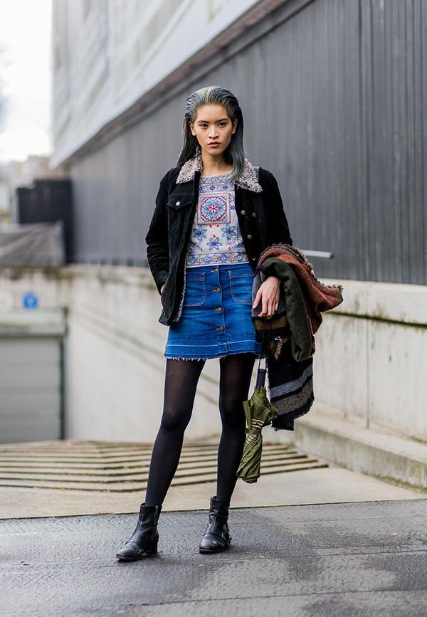 Skirt Frayed Denim Skirt Frayed Denim Mini Skirt Denim