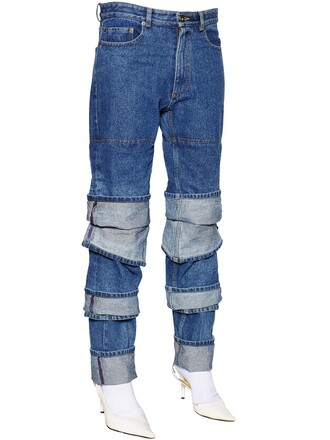 jeans denim layered cotton blue