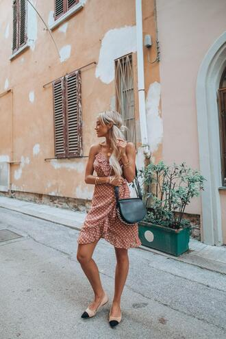 styled avenue blogger dress shoes sunglasses top bag hat ballet flats summer outfits