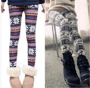 Deer christmas fashion doodle autumn and winter ankle length trousers legging