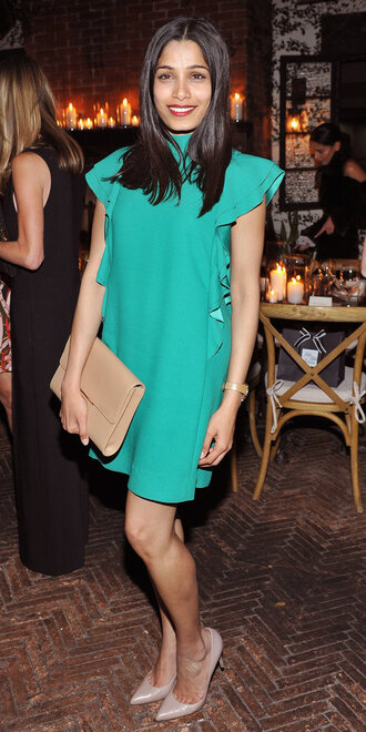 dress pumps mini dress freida pinto