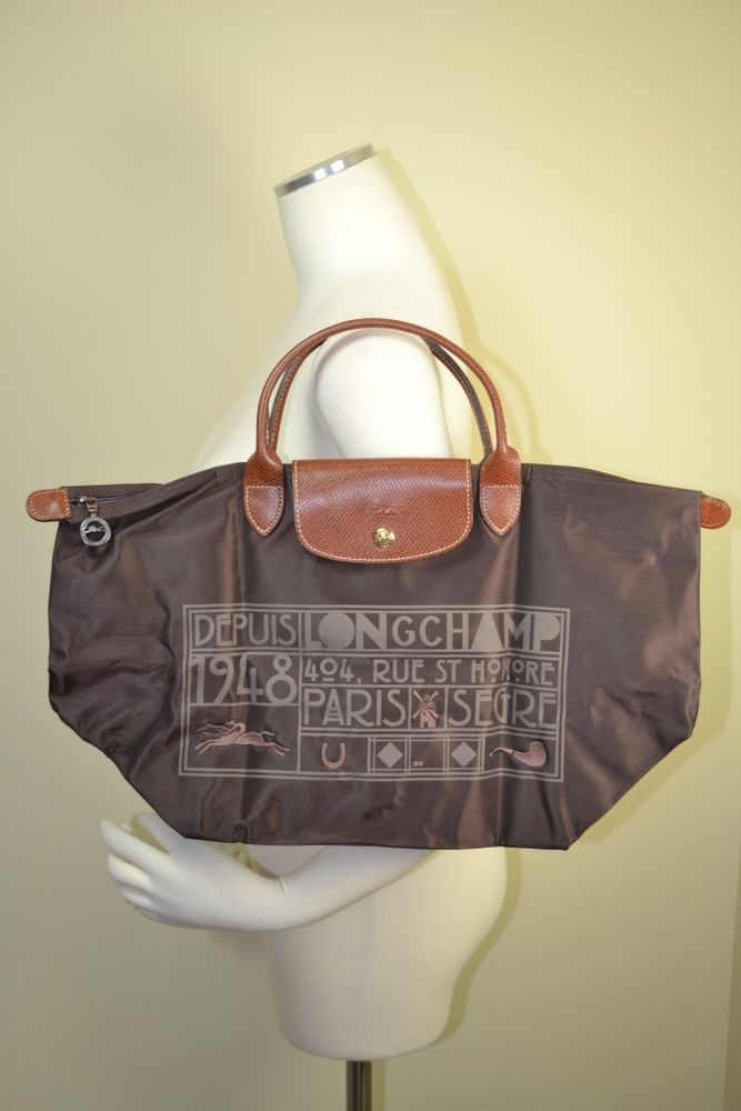 Longchamp Le Pliage Short Large Tote Mocha Brown Limited RARE Special New | eBay