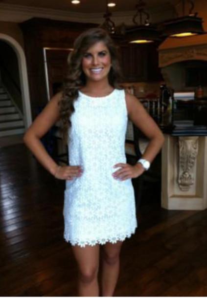 dress shirt dress white lace short dress white dress graduation dress lace dress