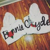sweater,bonnie and clyde,couples hoodies,jacket