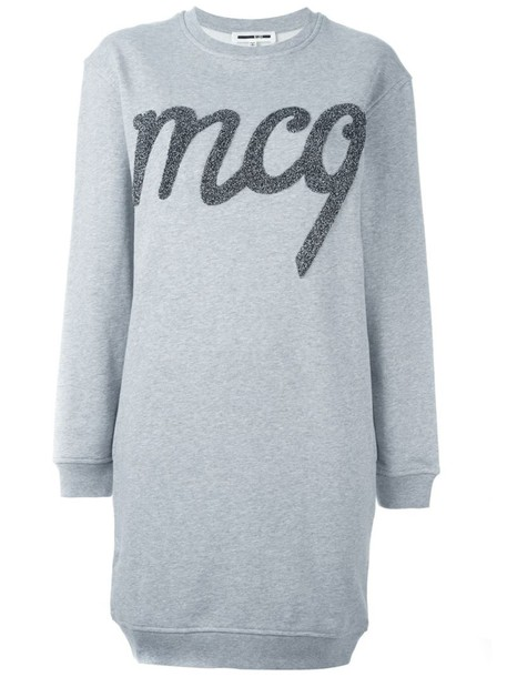 McQ Alexander McQueen dress sweatshirt dress grey