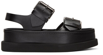 buckles sandals black shoes