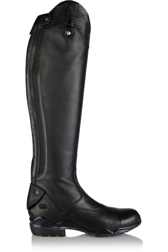 boots riding boots leather black shoes