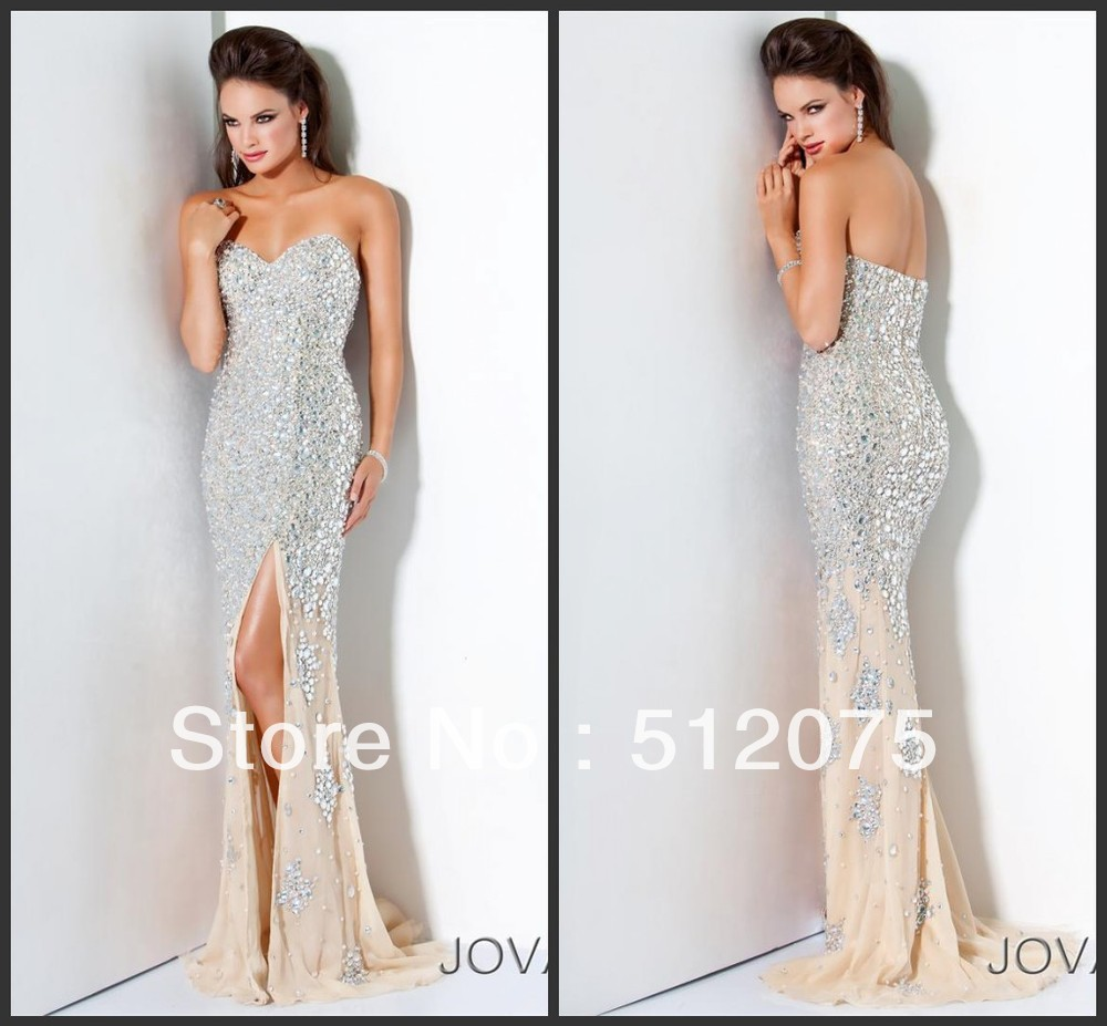 Aliexpress.com : Buy EET 050 New Arrival Popular Sexy Sweetheart Open Back FLoor Lenghth Beads Crystal Evening Dress 2013 from Reliable dress summer suppliers on kiss family
