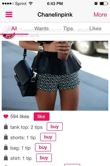 shorts shirt blouse peplum top black bottoms