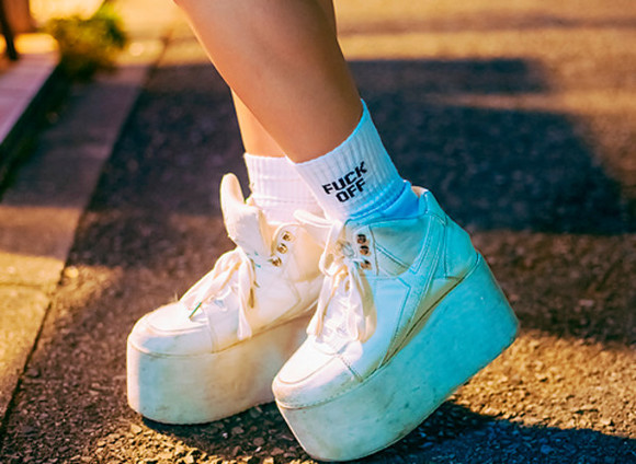 shoes grunge white shoes platform sneakers