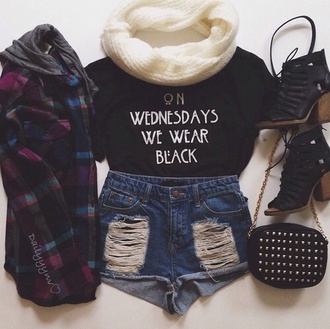 t-shirt black american horrorr  story blouse top hair accessory shorts clothes shoes coat