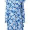 Msgm floral print shirt dress, women's, size: 44, blue, silk