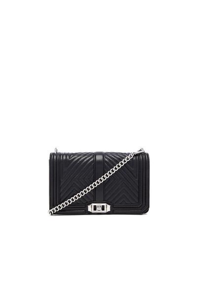 Rebecca Minkoff love quilted black bag