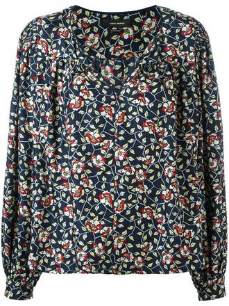 blouse women floral cotton print silk yellow top