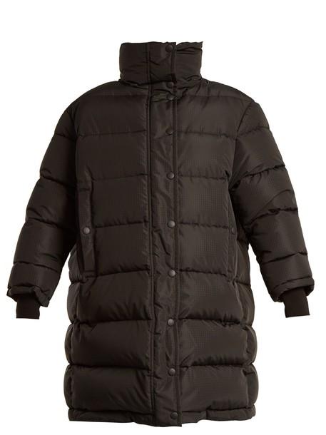 Balenciaga coat oversized quilted black