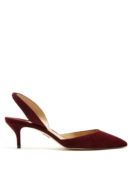 Paul Andrew suede pumps pumps suede burgundy shoes