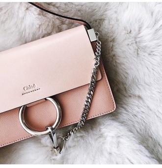bag pink bag chloe chloe bag chain bag designer bag pastel bag