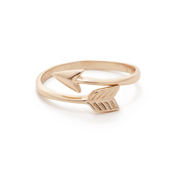 jewels rose gold arrow ring summer jewelry earthy chic