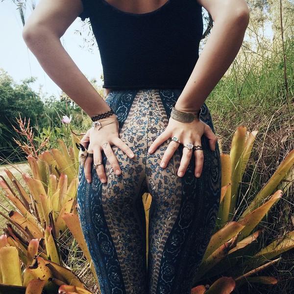 leggings boho floral pants