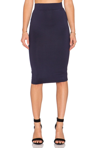 skirt pencil skirt navy