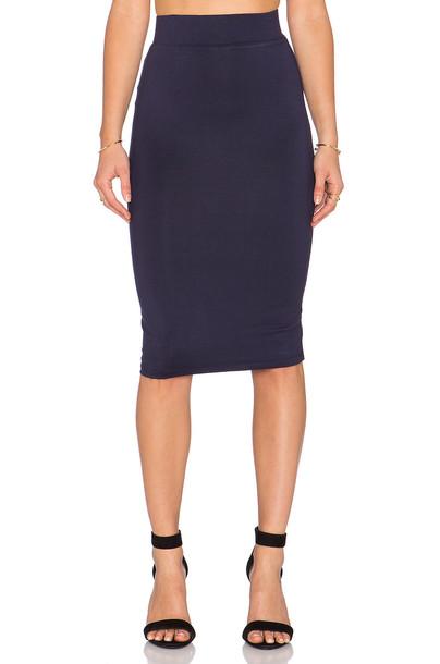 BLQ BASIQ skirt pencil skirt navy