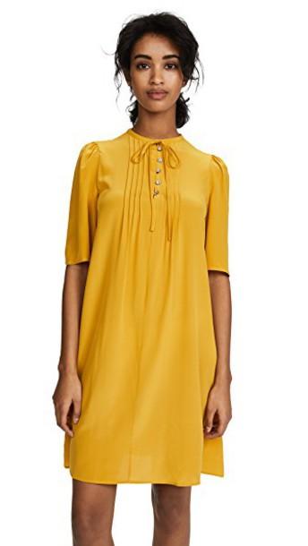 McQ - Alexander McQueen dress mustard