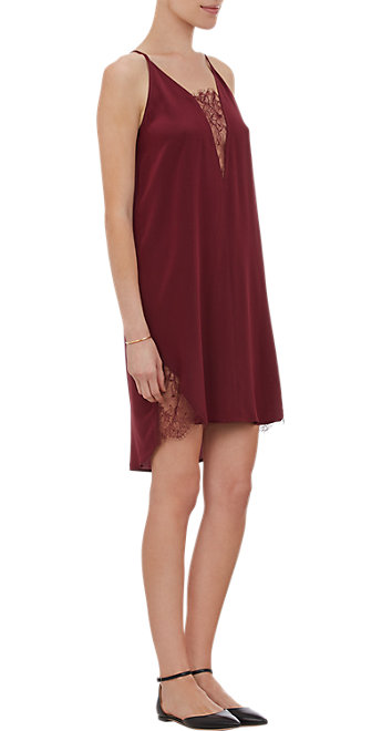 Inset slip dress at barneys.com