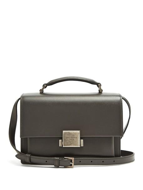 Saint Laurent bag leather bag leather dark grey