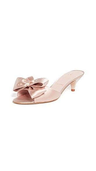 heel bow sandals blush shoes